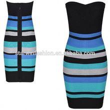 gradient wholesale 2015 design dress modern beautiful mature women bandage dress