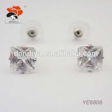 top bargain sale simple korean zircon square earrings jewelry