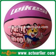 "5"" mini rubber basketball"