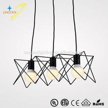 GZ50025-3P popular simple design black metal post-modern hanging lights