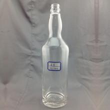 Wholesale empty clear 750ml glass liquor bottles for vodka whiskey spirits alcohol