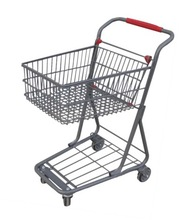 RH-SD01 size 720*455*900mm double layers shopping trolley Supermarket Cart Smart Baskets stacker Shopping Trolly