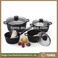 De calidad superior 7 piezas de acero inoxidable, utensilios de cocina antiadherente conjuntos