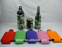 New Neoprene Red Black Blank Magnet Bottle Cooler Sleeve