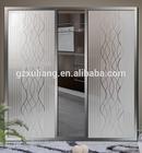 standard size aluminum door frosted glass closet doors
