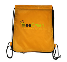 Eco-friendly Customized Design cinch sport pack with Lateral Zipper