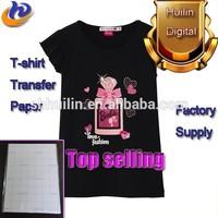 Tshirt transfer paper/heat transfer paper pure cotton material dark color