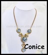 2015 fashion style decorative round pendant necklace