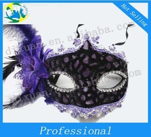 Lace feather mask Lateral flower feather mask Venice mask