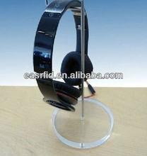 acrylic headphone/ Base + Stainless display holder headphone Stand