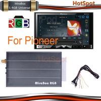Car wireless mirror link mirabox RGB for Pioneer car dvd built-in gps /bluetooth/ am/fm radio/tv