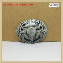 BUC9585 men fashion silver oval cow/bull head western
