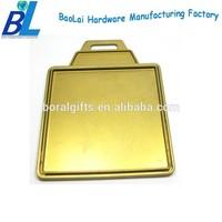 Matt gold square shaped wholesale golf luggage tags