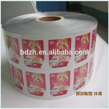 Custom laminated printing film for sachet packaging