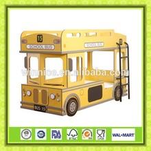 school bus type children's bunk bed