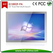 """15"""" touch screen monitor with P Cap technology"""