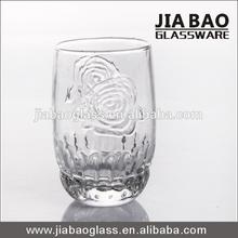 150ml rose design glass restaurant water juice beer glass
