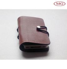 100%sheep leather custom handmade cellular phone flip case cover / bag for iphone 5s/6/6plus/samsung