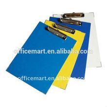 Factory price A4 PP metal clip board / plastic clip board/board clip