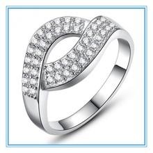 High quality fashion design hot sale Curved diamond ring