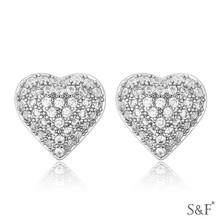 18123 ali express 18k white gold diamond earrings