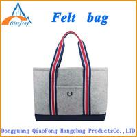 new design felt fabric ladies fancy bags/ ladies shopping bags