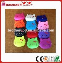 Colorful Cat Design Soft Silicone Coin Bag--Multi Color
