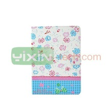 Colored Flowerlet Rhinestone Leather Cases for iPad 6 Flip cover