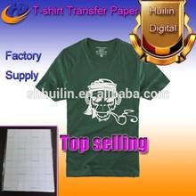 dark color Tshirt transfer paper/heat transfer paper pure cotton material