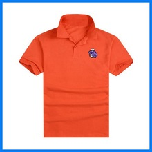 China factory OEM knitted clothes design of unisex polo shirt
