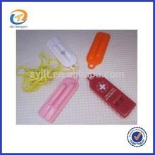 Promotional Customized wholesale Flat Plastic Whistle
