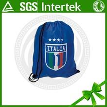 2015 trending hot products sports club logo drawstring bag by high quality printing