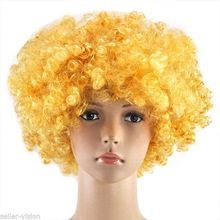 Curly Afro Fancy Dress Wigs Funky Disco Clown Style Mens and Ladies Costume 70s Hair QPWG-2158
