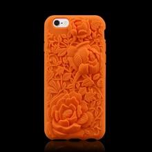 2015 HK fair new design rose silicone phone case for iphone 6