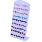 Cheap Plastic Imitation Diamond Fake Zircon Clip Stud Earrings