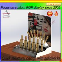 high end custom shopping mall tabletop acrylic cosmetic lipstick organizer