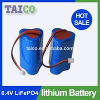 6.4v 3000mah 18650 Lithium Battery Pack for LED Light