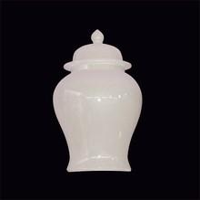High quality white glazed ceramic bell jar for wholesale