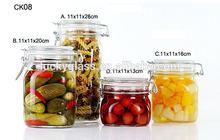 ZIBO square clear airtight glass jars for jam CK08