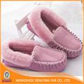 venta al por mayor baratos real zapatos de piel de oveja para las mujeres