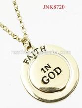 2015 new design rhinestone cross orbit message faith in god spiritional pendant necklace