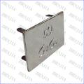 personalizado de alta calidad de metal de plata tarjeta de identificación de equipaje bolso de etiquetas de la etiqueta para la decoración