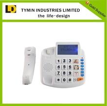Telecommunication emergency SOS large button phone for senior