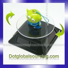 Factory Price Crystal Bracelet Turntable Solar Rotating light Base Rotating 360 Degree Solar Display