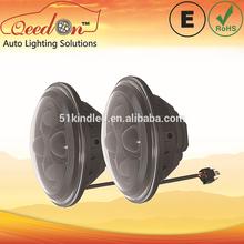 Qeedon 7inch LED Round headlight with Angel Eyes ultra-bright led headlight for Harley Davidson Motorcycle
