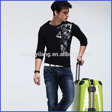 High quality 95% cotton 5% spandex t-shirts men customized t-shirts