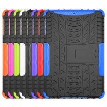 Cool design Hybrid Rugged Hard Silicone Stand Combo Case for ipad mini