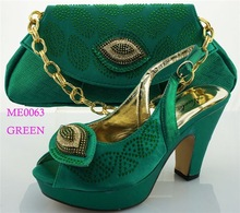 ME0063 green New arrival 2015 sexy popular African comfortable wear women elastic button high heel pump all match party shoes