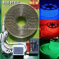 High Voltage 60LEDs/Meter China 110V/220V 18-20lm led strip IP67 high lumen 5050 led rope lights 5m walmart