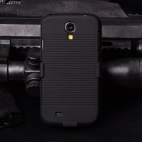 Factory Price!Slim Rubberize Protector Holster with Kickstand Case Cover For Samsung Galaxy S4 Active I9295 Cell Phone Case